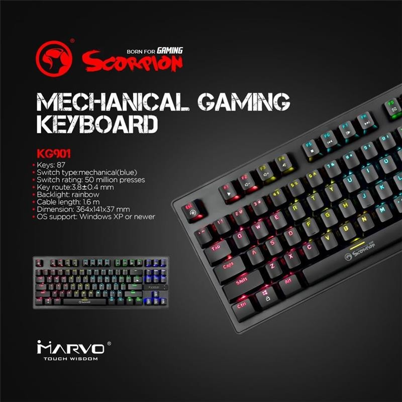 TECLADO MECANICO MARVO KG901 SP – Distribuidora Wonter Electronic